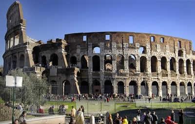 Coliseu em roma, italia