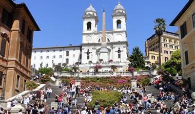 igreja Trinità dei Monti, roma, itália